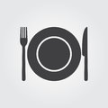 Dish Fork And Knife - Vector Icon Stock Photos - 95896203
