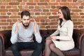 Young Couple Fighting Over Money At Home Royalty Free Stock Images - 95898769