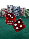 Betting With Dices Royalty Free Stock Photography - 9590297