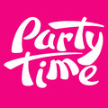Party Time Sign Logo Vector Illustration Red Royalty Free Stock Photography - 95903327