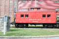 LITITZ, PA - AUGUST 30: Reading Caboose At Old Lititz Railroad Train Station On August 30, 2014 Royalty Free Stock Image - 95910426