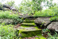 Old Ancient Stone Stairs With Moss. Royalty Free Stock Image - 95911596