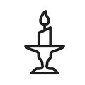 Candle On Stand Royalty Free Stock Photo - 95946515