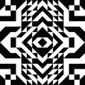 Triangle Geometric Shapes Pattern. Black And White Stock Photography - 95949102