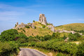 Ruins Of Corfe Castle Royalty Free Stock Image - 95968016