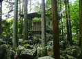 Japanese Temple In A Forest Royalty Free Stock Photos - 95978618