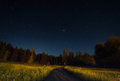 Night Landscape Under Starlight Stock Photos - 95979103