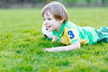 Little Cute Kid Boy Of 4 Playing Soccer With Football On Field, Outdoors Royalty Free Stock Photos - 95988968