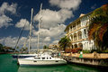 Yacht At Marina Royalty Free Stock Image - 964166