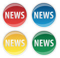 News Sticker Royalty Free Stock Photos - 9607718