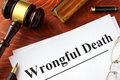 Document With Title Wrongful Death. Stock Photo - 96041980