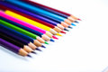Color Pencils On Background Close-up Stock Image - 96044051