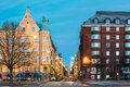Helsinki, Finland. Residential House Building At Intersection Of Royalty Free Stock Images - 96052089