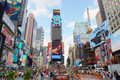 Times Square View With People And Advertising Billboard In New York Royalty Free Stock Photos - 96053558