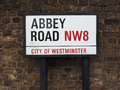 Abbey Road Sign In London Stock Photography - 96067812