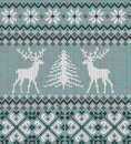 Scandinavian Winter Ornament. Cristmas Seamless Knitted Pattern. Royalty Free Stock Photo - 96073775