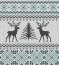 Scandinavian Winter Ornament. Cristmas Seamless Knitted Pattern. Royalty Free Stock Photography - 96073977