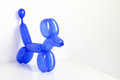 Simple Blue Twisted Balloon Animal Dog On White. Toy Of Balloons, Free Space For Text. Balloon Art. Royalty Free Stock Images - 96074699