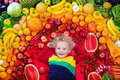 Healthy Fruit And Vegetable Nutrition For Kids Stock Image - 96098351
