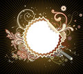 Funky Styled Design Frame Royalty Free Stock Images - 9613789