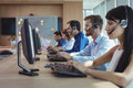 Business Colleagues Working At Call Center Royalty Free Stock Photos - 96100448