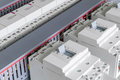 In The Electrical Cabinet Are Mounted Circuit-breakers, Modular Contactors. Royalty Free Stock Photo - 96113405