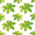 Tropical Palm Leaves Seamless Floral Pattern Background For Decorative And Display Purpose.Ideal For Florist,event Promotions,wedd Royalty Free Stock Photo - 96140045