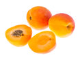 Fresh Apricots Isolated On White Background Royalty Free Stock Images - 96158679