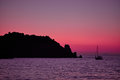 Giglio Island Sea At Dusk Royalty Free Stock Image - 96182556