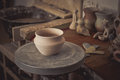 Clay Pot On A Potter`s Wheel Royalty Free Stock Photo - 96183095