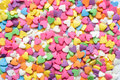 Scattered Candy Hearts Stock Photos - 96186413