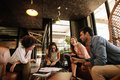 Team Of Corporate Professionals Having Friendly Discussion Royalty Free Stock Image - 96188476