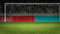 Football Goal With People On Background 3d Rendering Royalty Free Stock Photography - 96189857