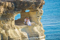 Romantic Dating. Young Loving Couple Embracing And Enjoying Sea Stock Photography - 96191692