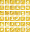 Golden Squared Icons Stock Photo - 9629160