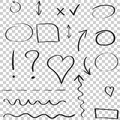 Hand Drawn Arrows And Circles Icon Set. Collection Of Pencil Ske Stock Image - 96200931