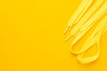 Yellow Shoe Laces Stock Photography - 96213512