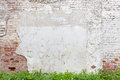 Aged Brick Wall With Cracked Plaster Stock Images - 96223504