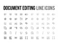 Document Text Editing Vector Line Icon For App, Mobile Website R Stock Photos - 96230713