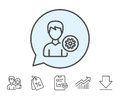 User Settings Line Icon. Male Profile Sign. Stock Photos - 96248773