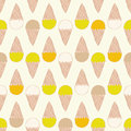 Seamless Pattern With Ice Cream. Cute Background In Vintage Retro Style. Seamless Vector Illustration For Stock Photos - 96251623