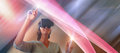 Composite Image Of Smiling Mature Woman Using Virtual Reality Glasses Royalty Free Stock Image - 96262356