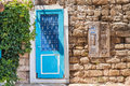 Blue Door To House In The City Center In The Old Town. Stock Image - 96278481