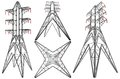 Transmission Electricity Tower Illustration Vector Royalty Free Stock Images - 96288669