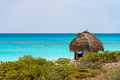 Observation Tower On The Sandy Beach Of The Playa Paradise, On The Island Of Cayo Largo, Cuba. Copy Space For Text. Stock Photos - 96292953