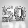 Number Fifty Made Out Of Technical Texture Royalty Free Stock Photo - 96310865