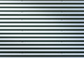 Corrugated Metal Sheet. Silver Gray Background Pattern With Shiny Reflection. Stock Image - 96324841