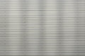 Corrugated Metal Sheet. Silver Gray Background Pattern With Shiny Reflection. Stock Image - 96325781