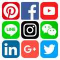 Popular Social Media Icons Stock Photo - 96326480