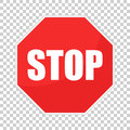 Red Stop Sign Vector Icon. Danger Symbol Vector Illustration Royalty Free Stock Photo - 96328555
